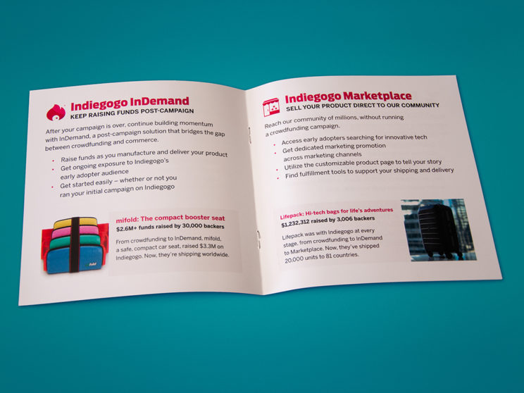 Indiegogo Booklet Spread